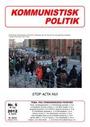 Nr. 5 2012 - Kommunistisk Politik