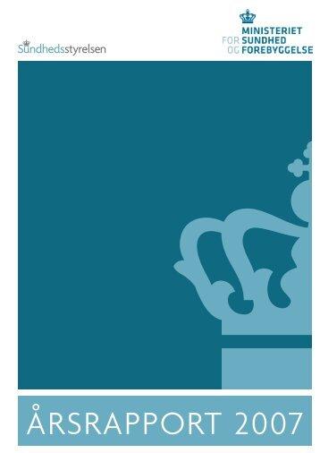 ÅRSRAPPORT 2007 - Sundhedsstyrelsen