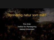 Oprindelig natur som mål? - NATUR & MILJØ 2013