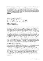 08 Den nye typografien På starten av 1900-tallet var Europa preget ...