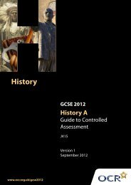 Guide to controlled assessment in History A (PDF, 507KB) - OCR