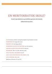 EN MERITOKRATISK SKOLE? - sociologisk-notesblok