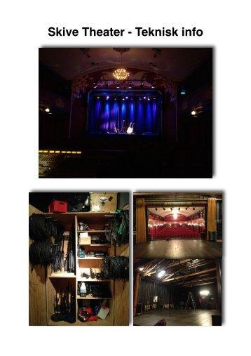 PDF: Lyd og Lys samt Scene Spec - Skive Theater