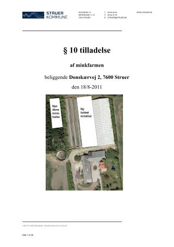 Miljøtilladelse - §10 5 - Struer kommune