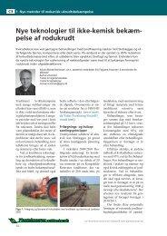 Nye teknologier til ikke-kemisk bekæmpelse af ... - LandbrugsInfo