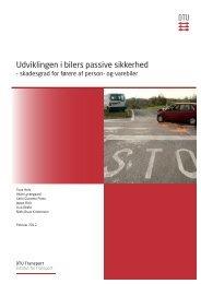 Udviklingen i bilers passive sikkerhed - DTU Orbit - Danmarks ...