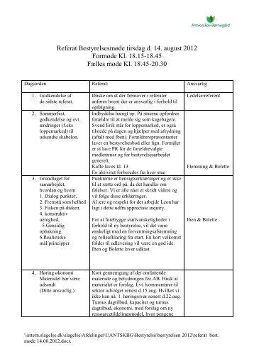 Referat af 14-8-2012 - Slagelse Kommune