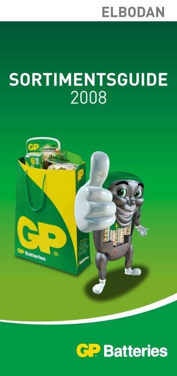 GP Batteries sortimentsguide