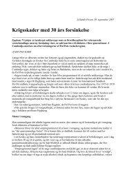 Krigsskader med 30 års forsinkelse - Øjvind Kyrø