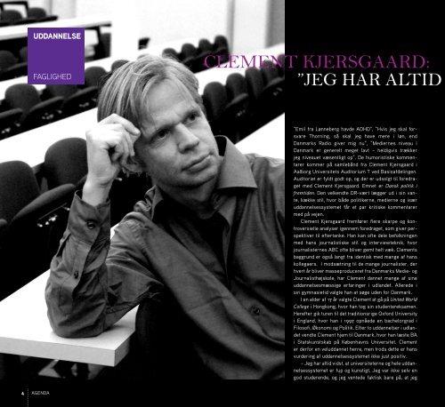 Ny iværksætter-su clement KjersgAArd - Agenda - Aalborg Universitet