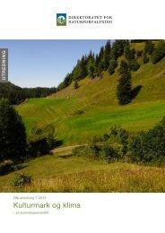 Kulturmark og klima - Direktoratet for naturforvaltning