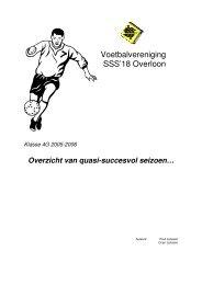 Klasse 4G 2005-2006 Overzicht van quasi-succesvol seizoen…