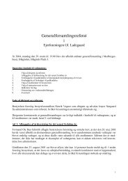 Referat af generalforsamlingen 2004 - Gammel Ladegaard