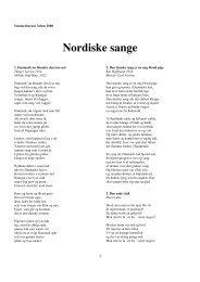 Nordiske sange - Nordkurs Danmark