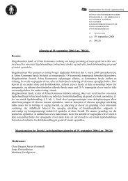 Afgørelse af 19. september 2006 (j.nr. 780.26) - Klagekomitéen for ...
