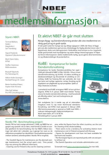 NBEF-nytt 1-2008 - Norges Bygg- og Eiendomsforening