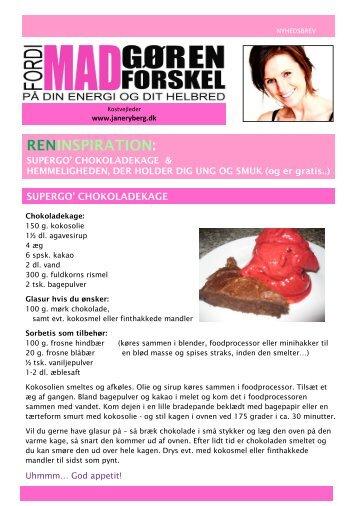 Chokoladekage og hemmeligheder