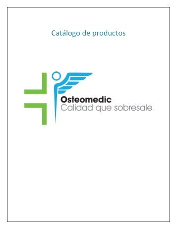 CATALOGO DE PRODUCTOS - Osteomedic SA