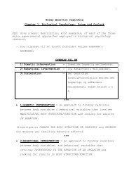 Essay Question regarding Chapter 1. Biological Psychology: Scope ...