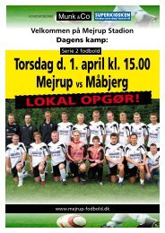 Torsdag d. 1. april kl. 15.00 Mejrupvs Måbjerg