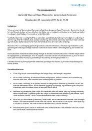 Tilsynsrapport Kaas Plejecenter 30.11.11 - Jammerbugt Kommune
