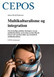 Multikulturalisme og integration - Cepos