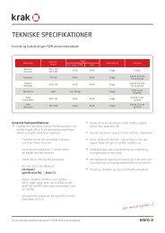 Tekniske specifikationer (pdf) - Krak
