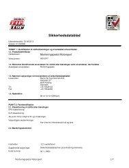 Sikkerhedsdatablad - rema tip top danmark a/s