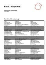 Forhistorisk arkæologi: - Organisationen Danske Museer