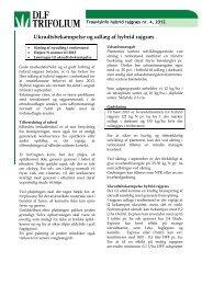 Ukrudtsbekæmpelse og udlæg af hybrid rajgræs - DLF-TRIFOLIUM ...
