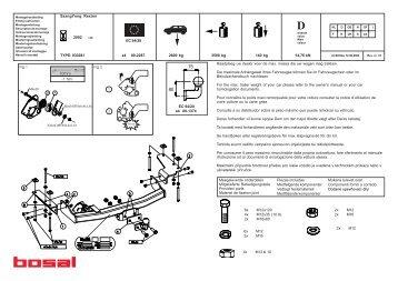 14,76 kN 140 kg 3500 kg 2600 kg e4 00-2287 TYPE: 033081 ...