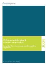 Perkutan vertebroplastik - Sundhedsstyrelsen