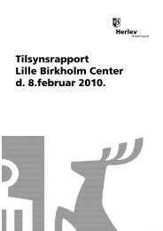 Lille Birkholm Center tilsyn og smiley 2010
