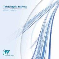 Produktutvikling - Teknologisk Institutt