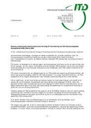 Trafikstyrelsen Høring vedrørende Kommissionens forslag til ... - ITD