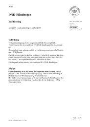 DNK-Håndbogen Verificering