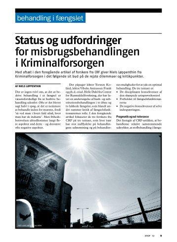 status og udfordringer for misbrugsbehandlingen i ... - Stof