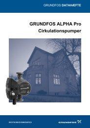GRUNDFOS ALPHA Pro Cirkulationspumper