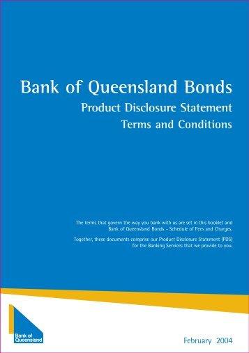 Bank of Queensland Bonds