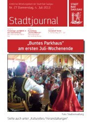 Stadtjournal Ausgabe 27/2013 - Stadt Bad Saulgau
