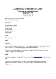 Bestyrelsesmøde den 1. juni 2010 - Andelsboligforeningen Aabo