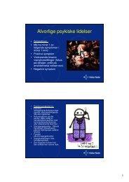 Alvorlige psykiske lidelser - Treningskontakt.no