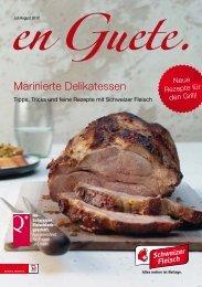 Marinierte Delikatessen - Schweizer Fleisch