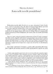 Roma nelle novelle pirandelliane* - Sapienza