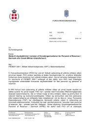 Støtte til skydeaktivitet i rammen af HPRD eller DMI [DOK673635]