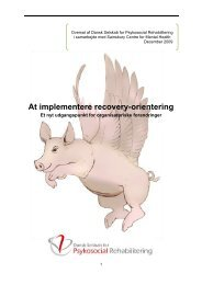 At implementere recovery-orientering - Dansk Selskab for ...