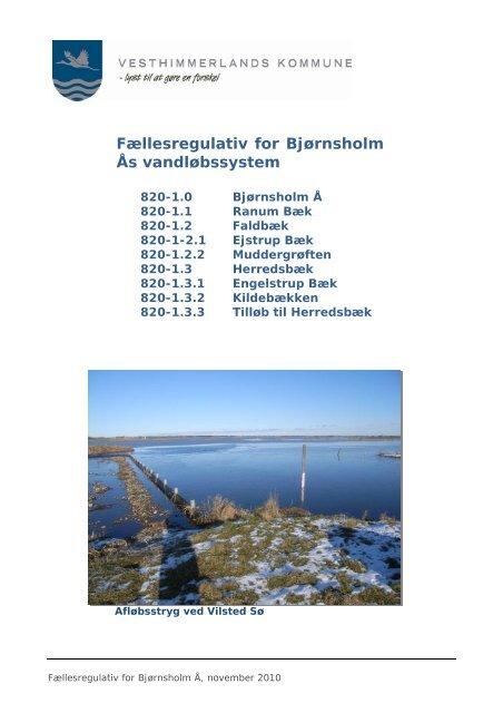 Fællesbestemmelser For Bjørnsholm Å systemet - Vesthimmerlands ...