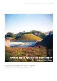 Grønne tages hydrauliske egenskaber - Vand i Byer