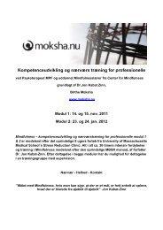 Kompetenceudvikling og nærværs træning for professionelle - Moksha