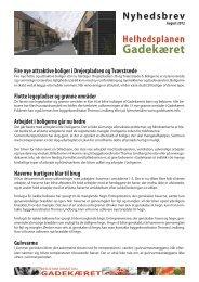 Her kan du læse seneste nyt om Gadekæret - Renoveringen i ...